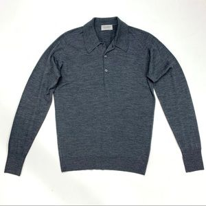 NEW John Smedley wool collared sweater